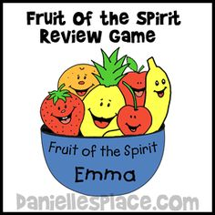 Fruit of the Spirit Bible Game - Fruit of the Spirit Bible Lesson from www.daniellesplace.com for Children's Sunday School