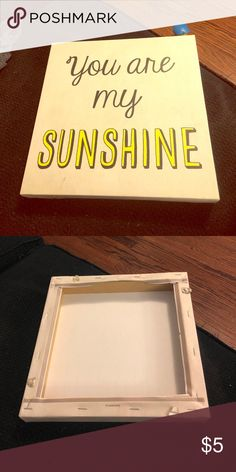 You are my sunshine wall art Great condition Other