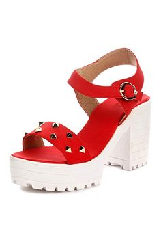 Midsole Women's Stylish Strappy Block Heels Sandals- (FT843C): Buy Online at Low Prices in India - Amazon.in Strappy Block Heel Sandals, Block Heels, Cheap Sandals, Fashion Sandals, India, Amazon, Stylish, Shoes, Goa India