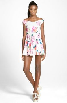 MINKPINK+'Neon+Nature'+Fit+&+Flare+Dress+available+at+#Nordstrom