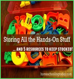 Homeschooling Today magazine | Storing All the Hands-On Stuff