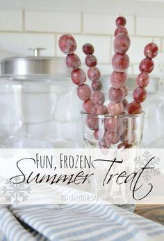 Frozen Summer Treat Recipe - Grapecicles