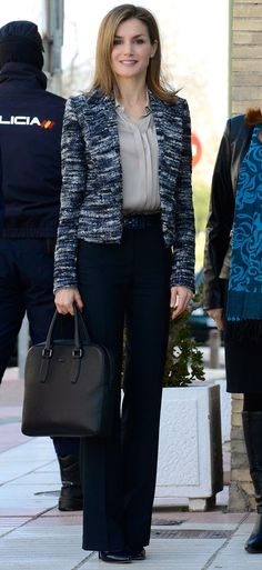 !! REAL- MY ROYALS !!: Queen Letizia in Hugo Boss - Meeting with the Spanish Committee for UNICEF