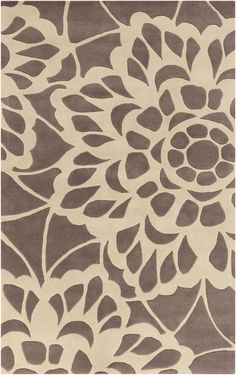 Surya LCE908 Lace Gray Rectangle Area Rug