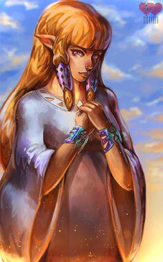 Princess Zelda speedpaint video! by Siga4BDN.deviantart.com on @DeviantArt
