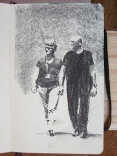 Moleskine #076 graphite pencil drawing