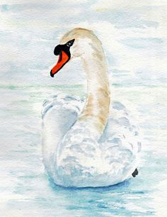 Swan in the Snow by Cherry Bray | Swap Art