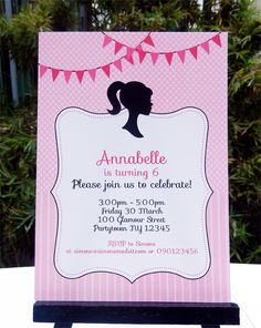 barbie birthday party invitation