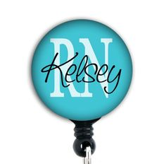 rn id badge retractable | Retractable ID Badge Holder - Personalized, RN, MA, and other ...