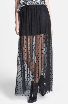 astr | Polka Dot Sheer Maxi Skirt (Nordstrom Exclusive) #astr #polkadot #maxi #skirt