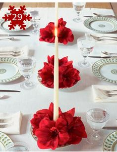 Decoração de mesa para o Natal                                                                                                                                                                                 Mais