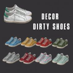 Leo Sims - Dirty Shoes Decor for The Sims 4