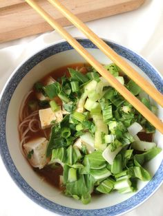 Noodles in Spicy Lemongrass Broth