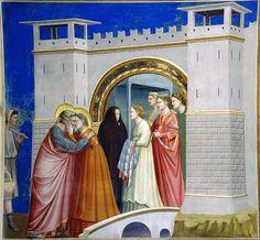 Giotto - L'incontro di Gioacchino e Anna. Padova, Cappella degli Scrovegni by renzodionigi, via Flickr