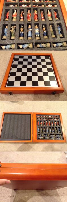 "Alice in Wonderland Fantasy Chess Set W// 18/"" Black Faux Leather Board"