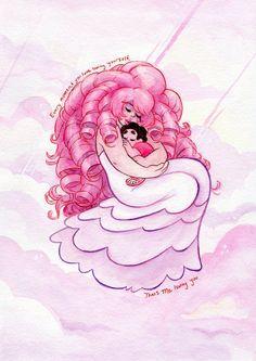 That's me Loving You: Steven Universe Rose Quartz and Steven Original Watercolor…