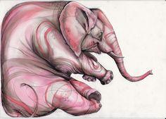Pink Elephant by Artjunk.deviantart.com on @deviantART