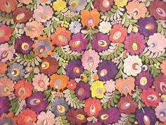 Matyo emboidered textile