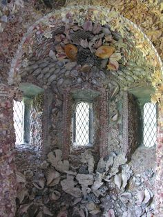 Shell Grotto, Hampton Court House, The Green, East Molesey, KT8 9BS. Photo taken during Open House London weekend.