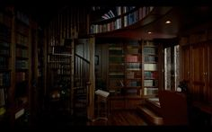 This home library appears in Season 1, Episode 5 of Breaking Bad at 6:51.