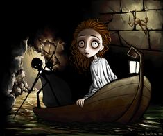 Phantom of the Opera, Tim Burton style. I really wish there was a movie like this for phantom of the opera. And they used book Erik. Estilo Tim Burton, Tim Burton Art, Tim Burton Style, Music Of The Night, Phantom Of The Opera, Nightmare Before Christmas, Opera House, Creepy, Musicals