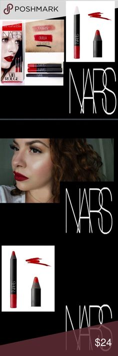 🆕NARS Cruella Lipstick Crayon Be fierce🔥Be the smoking sexy hot vamp you are🔥Cruella is a red velvet matte🔥A combination lipstick and lip pencil🔥Combining the convenience of a pencil with the application of a lipstick in a jumbo-sized crayon design, these pigment-rich sticks provide a matte🔥creamy finish that will not dry the lips🔥Enriched with emollients🔥vitamin E🔥and silicone, each gorgeous shade glides on and stays put🔥NARS Velvet Matte Lip Pencil is an Allure Best of Beauty…