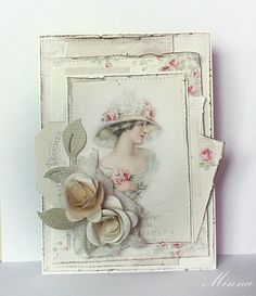 A card by Minna, featuring the Paris Flea Market collection