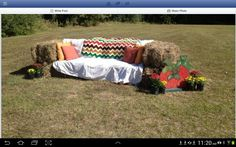 Fall festival, hay bale seating