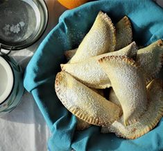 Sicilian Cassatelle with Ricotta. Celebrate Carnevale like the Italians in style with these Sicilian inspired treats. An orange scented crisp dough filled with sweet ricotta Cookie Desserts, Cookie Recipes, Snack Recipes, Dessert Recipes, Vegan Recipes, Scone Recipes, Easter Recipes, Snacks, Italian Cookies