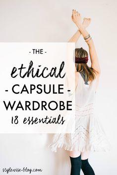 Back to Basics: An Ethical Capsule Wardrobe - Style Wise Ethical Fashion Brands, Ethical Clothing, Eco Clothing, Vegan Clothing, Fashion Mode, Slow Fashion, Ladies Fashion, Fashion Tips, Budget Fashion