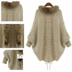 2016 New Autumn Women Cardigans Sweaters Long Sleeve Knit Loose Solid Scarf Collar Batwing Sleeve Open Stitch Sweaters Female