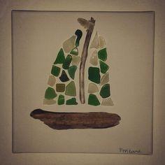 Legni di mare e vetro..driftwood boat
