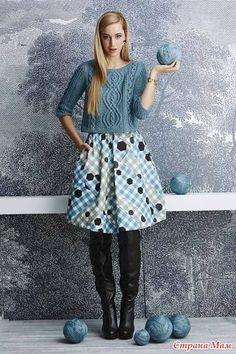 Укороченные модели джемперов, пуловеров (спицы)
