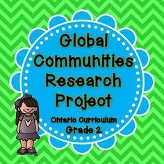 Global Communites Research Project - Grade 2 Social Studies $