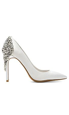 Jeffrey Campbell x REVOLVE Dulce Embellished Heel in White Satin