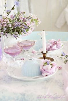 lovely pastel dining