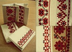 #обложкадляпаспорта #українськавишивка Palestinian Embroidery, Cross Stitch Designs, Diy Clothes, Passport, Gift Wrapping, Traditional, Sewing, Knitting, Holiday Decor