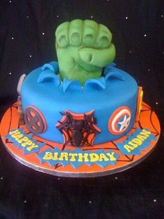 Avengers - Cake by Amber Catering and Cakes