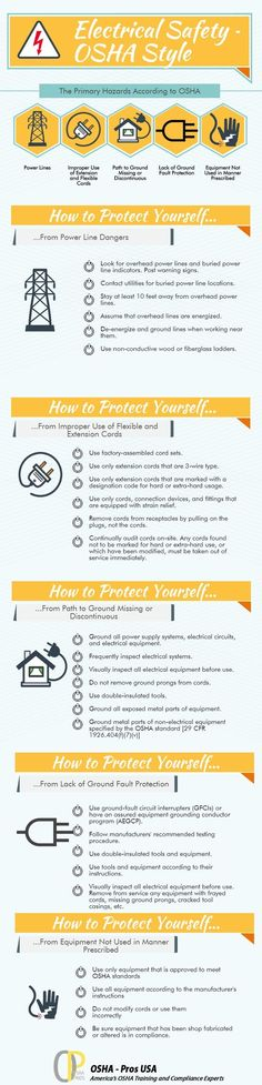 OSHA Electrical Hazards Causes and Safety Tips  infographic