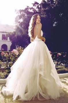 Wedding Dresses Ball Gown #WeddingDressesBallGown, Ivory Wedding Dresses #IvoryWeddingDresses, Backless Wedding Dresses #BacklessWeddingDresses, 2018 Wedding Dresses #2018WeddingDresses