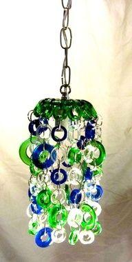 Glass bottle windchime