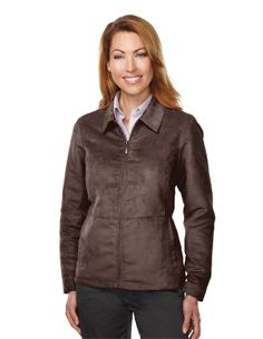 Womens 100% Polyester Suede Jacket w/100% polyester printed lining http://www.raisingtrend.com/tri-mountain.html