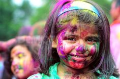 Devotees gather for the Holi Festival