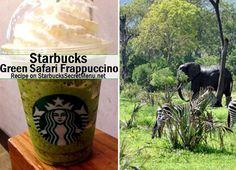 Live on the wild side! Enjoy a Starbucks Secret Menu Green Safari Frappuccino! Recipe here: http://starbuckssecretmenu.net/starbucks-secret-menu-green-safari-frappuccino/