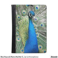Blue Peacock Photo iPad Air Case