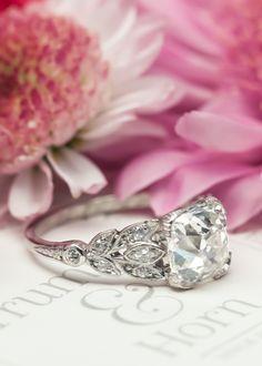 We LOVE our new favorite vintage Art Deco engagement ring, Cypress Point! Trumpetandhorn.com