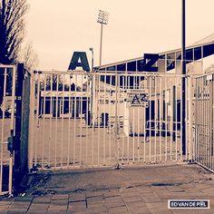 De Alkmaarder Hout. Oude voetbalstadion van AZ