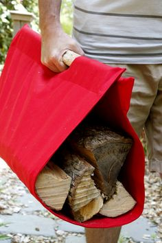 Make A Canvas Firewood Tote : HGTV Gardens
