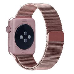 Pandawell Apple Watch Band, Milanese Loop Rose Gold Stainless Steel Replacement Watchband Strap Wrist Band with Adapter for 42mm Apple Watch & Sport & Edition - Rose Gold