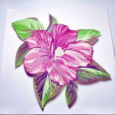 Paper Flower. #quilling #quillingpaper #quilledart #quillwork #paperflowers #paper #papercut #papercraft #papercrafts #papercrafting #flowers #rose